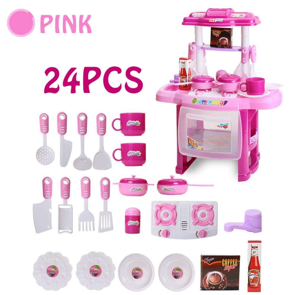 puzzle-game-toys Kid Children Kitchen Pretend Play Cooking Set Toys Toddlers Home Dinner Cookware HOB1620517 1