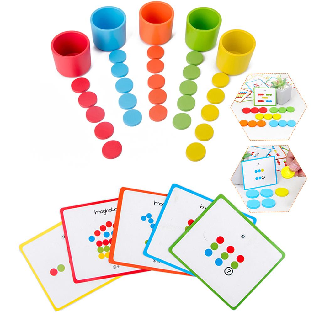 puzzle-game-toys Montessori Wooden Color Classification Matching Toys Sets Kids Early Education HOB1620677