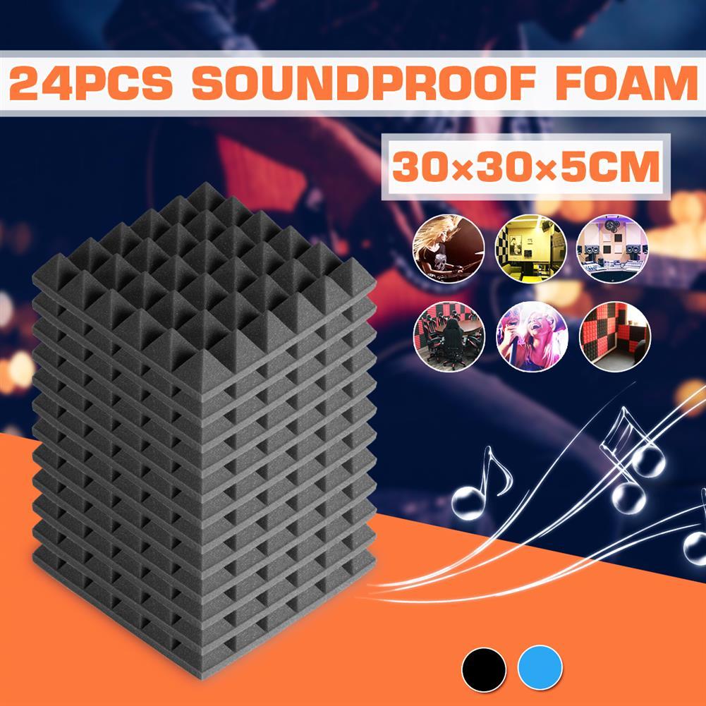 general-accessories 24PCS 300x300x50mm Soundproofing Foam Studio Acoustic Foam Soundproof Absorption Treatment Panel Tile Polyurethane Foam HOB1621205 2