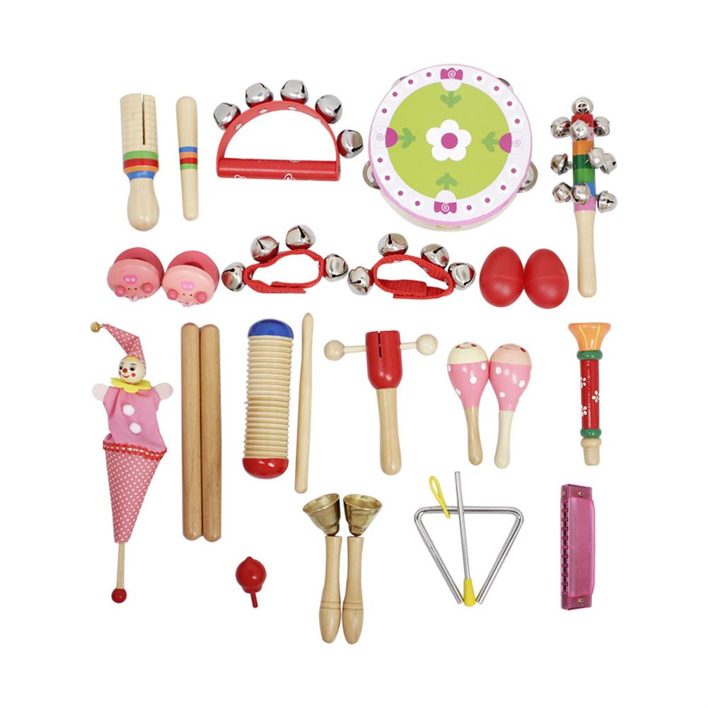 orff-instruments 22-Piece Set Orff Musical instruments Early Education Enlightenment instrument for Children Hands Sensing Practice HOB1622928