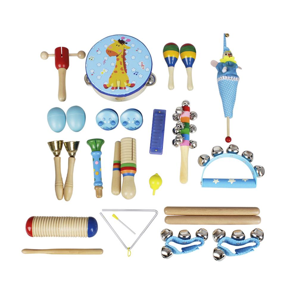 orff-instruments 22-Piece Set Orff Musical instruments Early Education Enlightenment instrument for Children Hands Sensing Practice HOB1622928 1