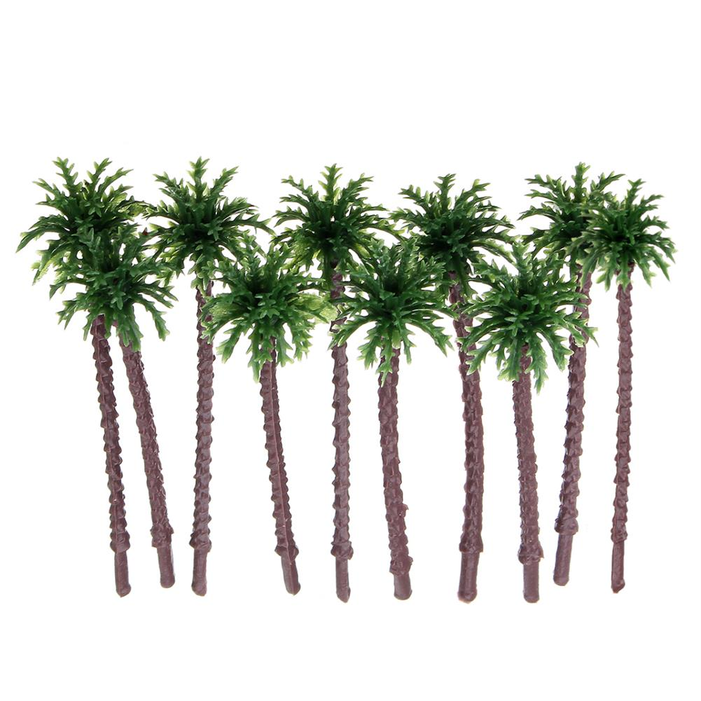 model-building 10PCS Mini Artificial Trees Coconut Tree Plant Home office Party Decorations Gift PVC HOB1626090 1