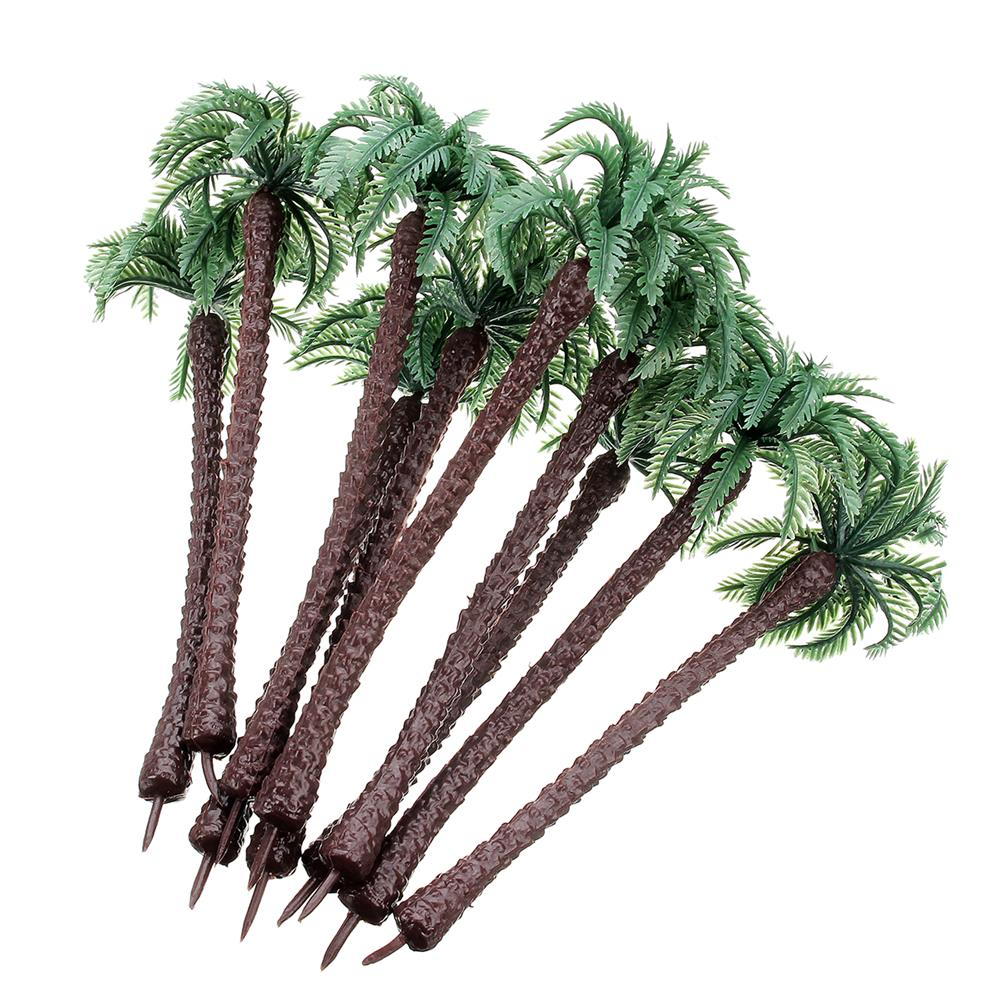 model-building 10PCS Mini Artificial Trees Coconut Tree Plant Home office Party Decorations Gift PVC HOB1626090 2