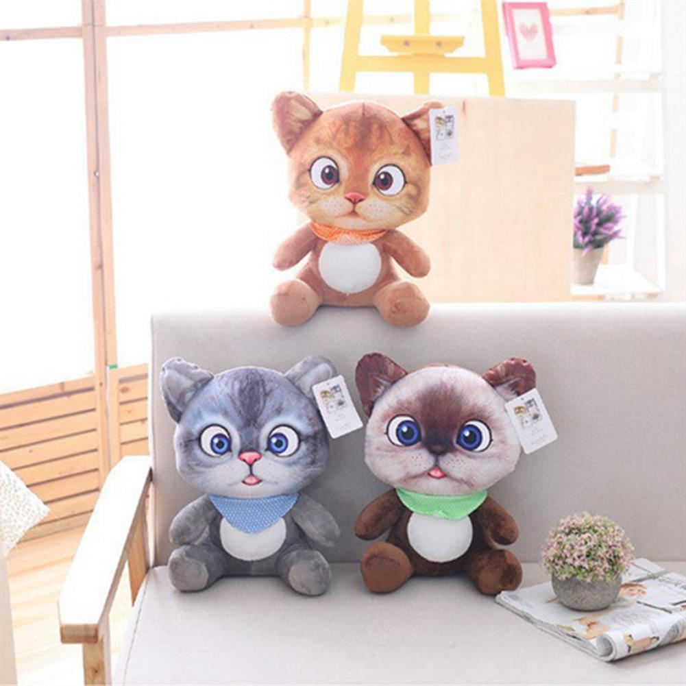 stuffed-plush-toys 20/30 CM Cute Soft Stuffed Cat Seat Dolls Pillow Cushion Plush Animal Toy for Kids Gifts HOB1627705
