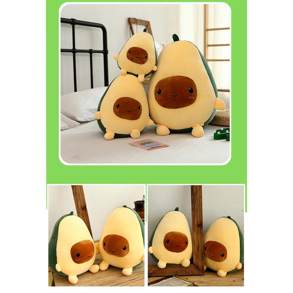 stuffed-plush-toys 25/35/60CM Cute Avocado Stuffed Plush Toy Soft Baby Doll Cartoon Fruit Pillow Sofa Cushion for Kids Birthday Gift HOB1627709 1