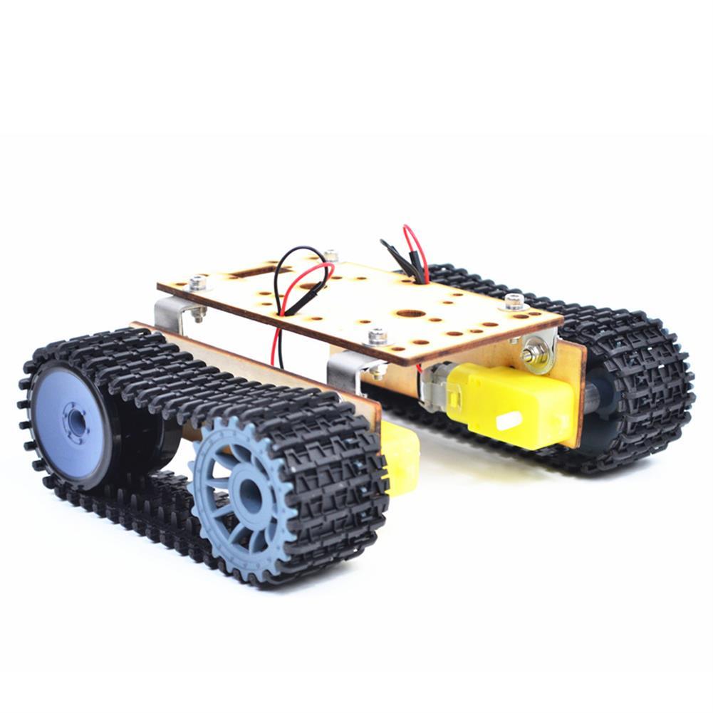 diy-education-robot Small Hammer DIY Smart Wooden RC Robot Tank with Plastic Crawler Belt TT Motor for Arduino UNO HOB1627843