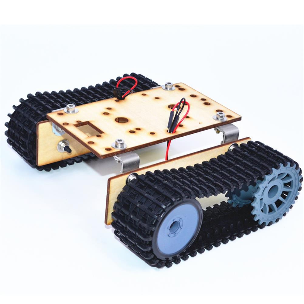 diy-education-robot Small Hammer DIY Smart Wooden RC Robot Tank with Plastic Crawler Belt TT Motor for Arduino UNO HOB1627843 1