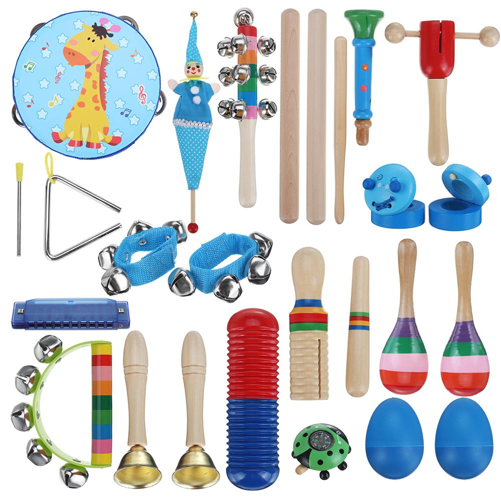 orff-instruments 22 Pieces Set Orff Musical instruments Hand Percussion Musical Toy for Kids Music Learning/KTV Party Playing HOB1629466 1