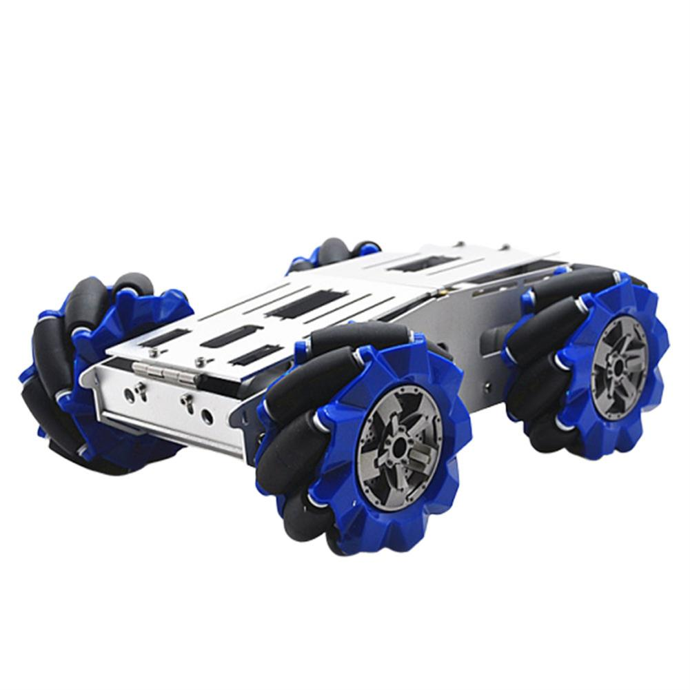 smart-robot-car D-40 DIY Smart Aluminous RC Robot Car Chassis Base with 103mm Omni Wheels DC 12V Motor HOB1631252