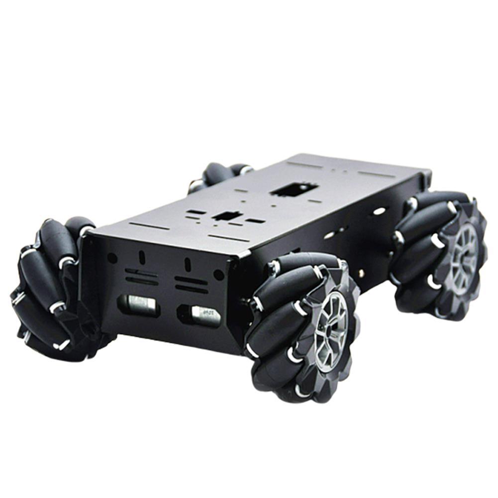 smart-robot-car D-43 DIY Smart Metal RC Robot Car Chassis Base with 97mm Omni Wheels DC 12V Motor HOB1631258
