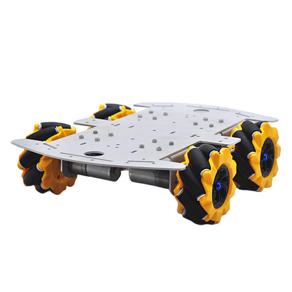 smart-robot-car D-46 DIY 4WD Smart RC Robot Car Chassis Base with Omni Wheels HOB1631260 1