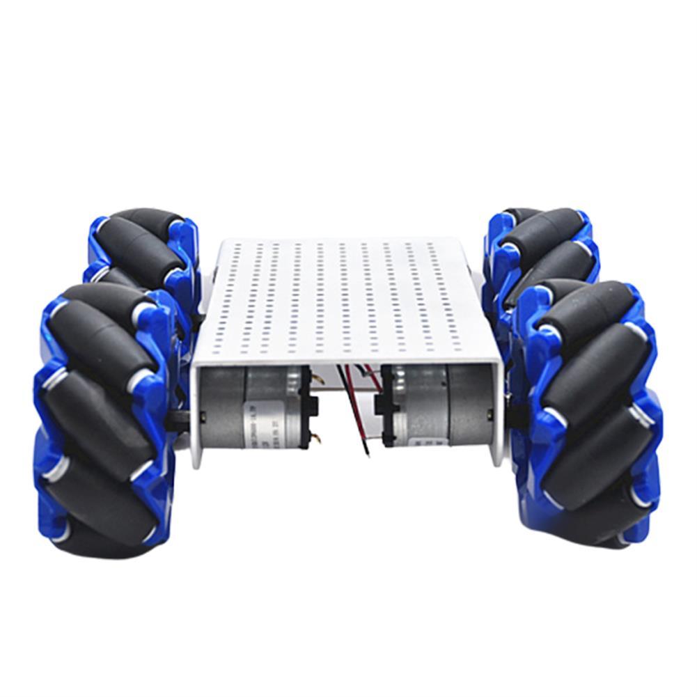 smart-robot-car D-44 DIY Smart Metal RC Robot Car Chassis Base with 103mm Omni Wheels HOB1631261 1