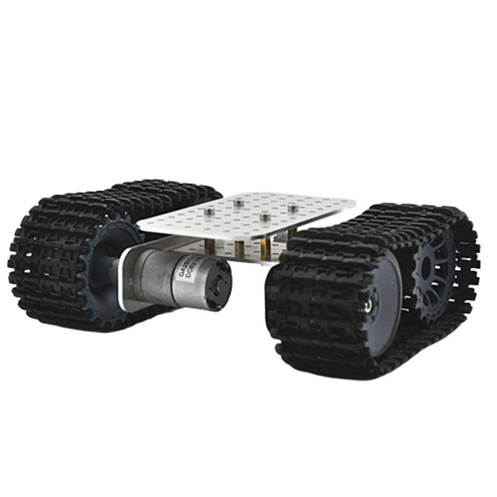smart-robot-car D-39 DIY Smart Aluminous RC Robot Car Tank Chassis Base with DC 12V 1:46 Motor HOB1631262