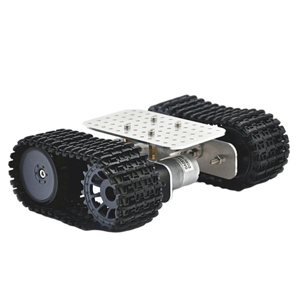 smart-robot-car D-39 DIY Smart Aluminous RC Robot Car Tank Chassis Base with DC 12V 1:46 Motor HOB1631262 1