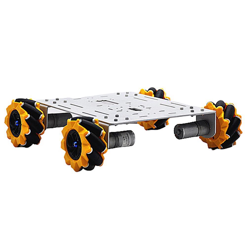 smart-robot-car D-36 DIY 4WD Smart Metal RC Robot Car Chassis Base with Omni Wheels 1:46 Motor HOB1631264