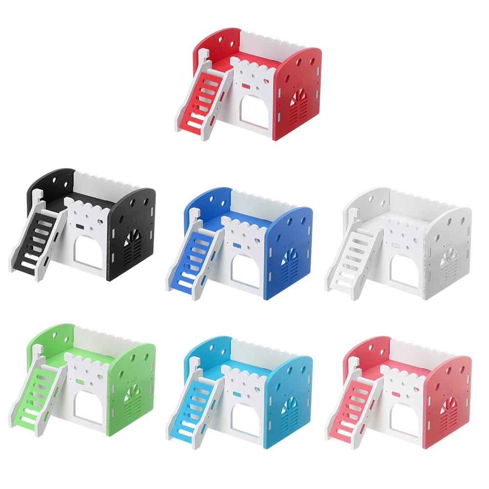 puzzle-game-toys Dual Layer Ladder Hamster House Small Animal Pet Mouse Cage Castle Exercise Toys HOB1632243