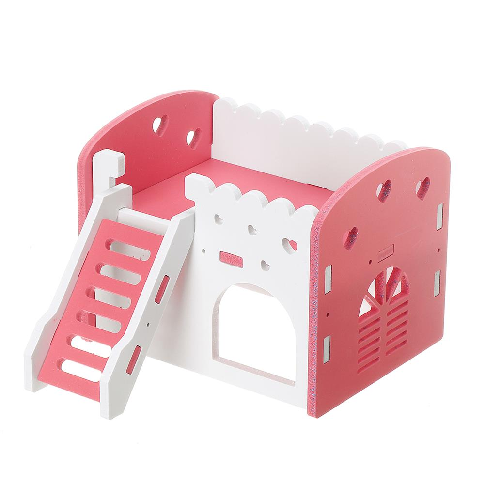 puzzle-game-toys Dual Layer Ladder Hamster House Small Animal Pet Mouse Cage Castle Exercise Toys HOB1632243 2