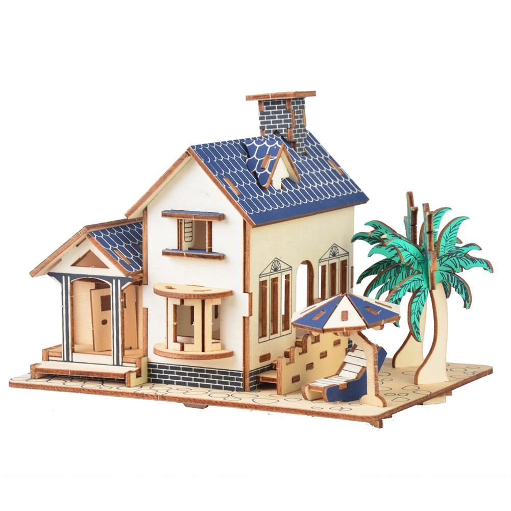 doll-house-miniature 3D Woodcraft Assembly Doll House Kit Decoration Toy Model for Kids Gift HOB1635635
