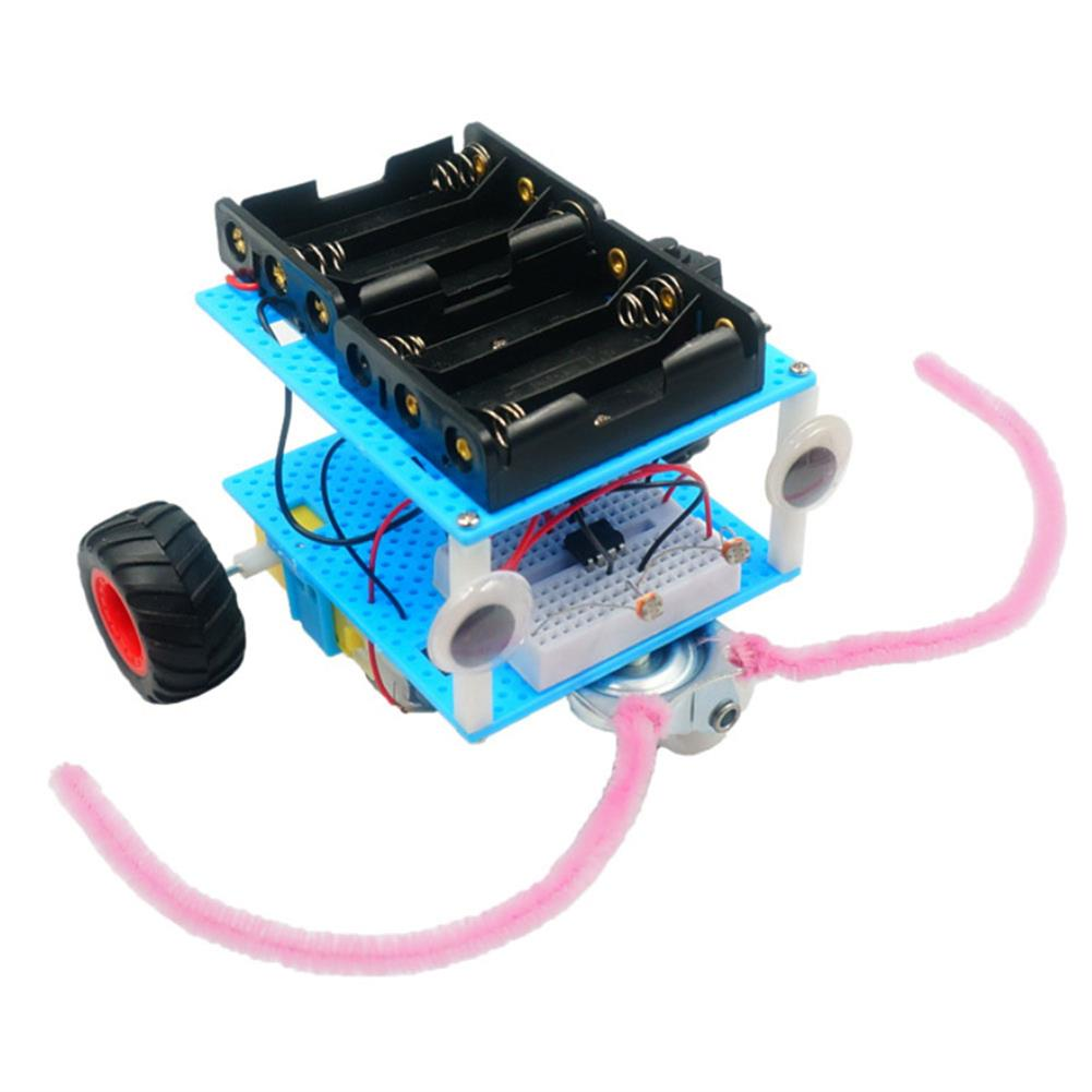 diy-education-robot Real Maker DIY STEAM Smart Light-Sensor Phototatic Robot Car Educational Kit Toy HOB1635679