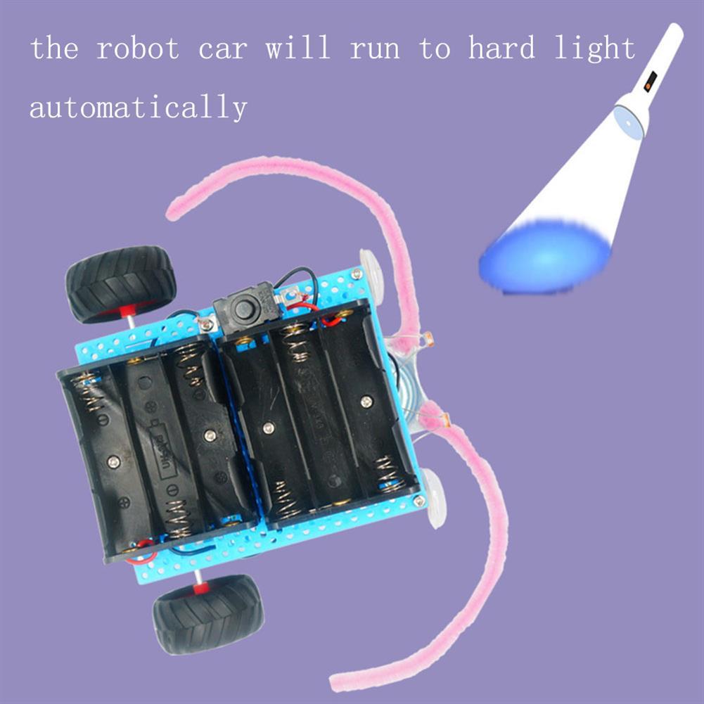 diy-education-robot Real Maker DIY STEAM Smart Light-Sensor Phototatic Robot Car Educational Kit Toy HOB1635679 1