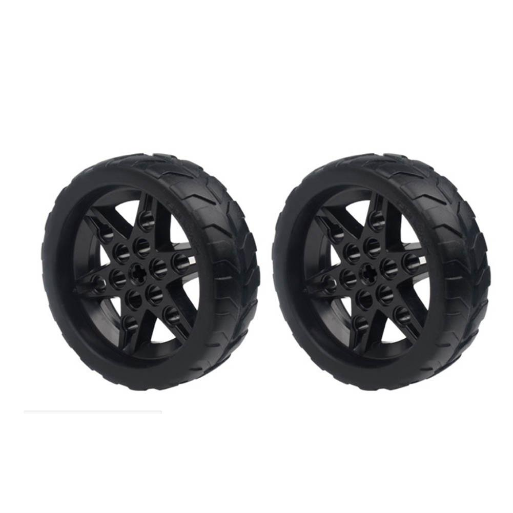 robot-parts-tools 1 Pair Lobot 68mm Silicone Robot Car Wheels Compabible with TT Moter for DIY RC Robot Car HOB1635773