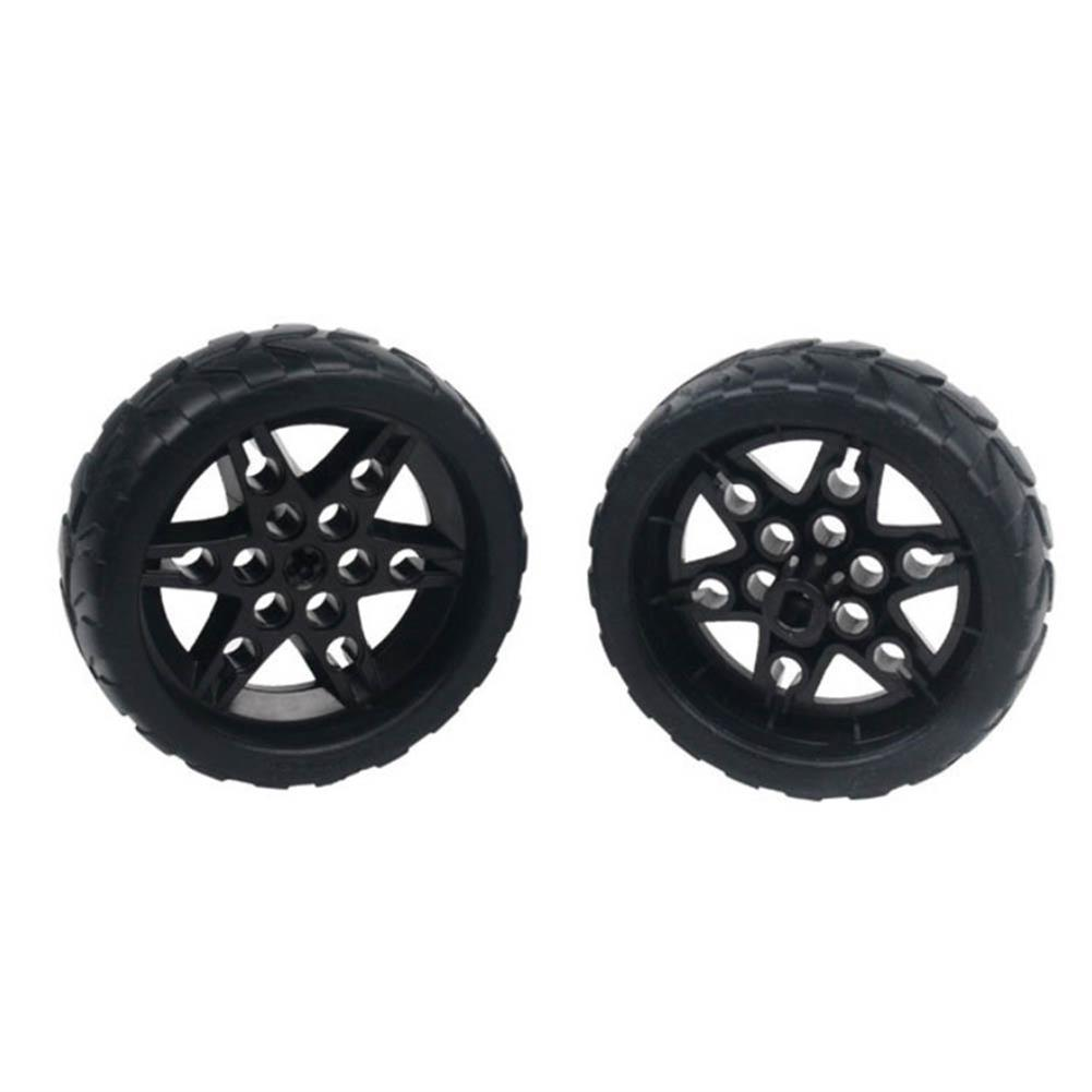 robot-parts-tools 1 Pair Lobot 68mm Silicone Robot Car Wheels Compabible with TT Moter for DIY RC Robot Car HOB1635773 1