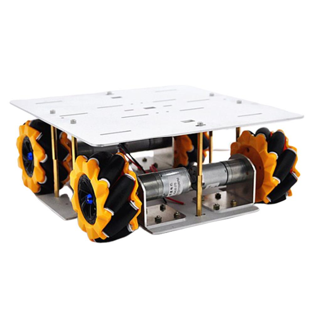 smart-robot-car D-30 DIY Smart 4WD RC Robot Car Chassis Base with Omni Wheels DC 12V 1:46 Motor HOB1635787
