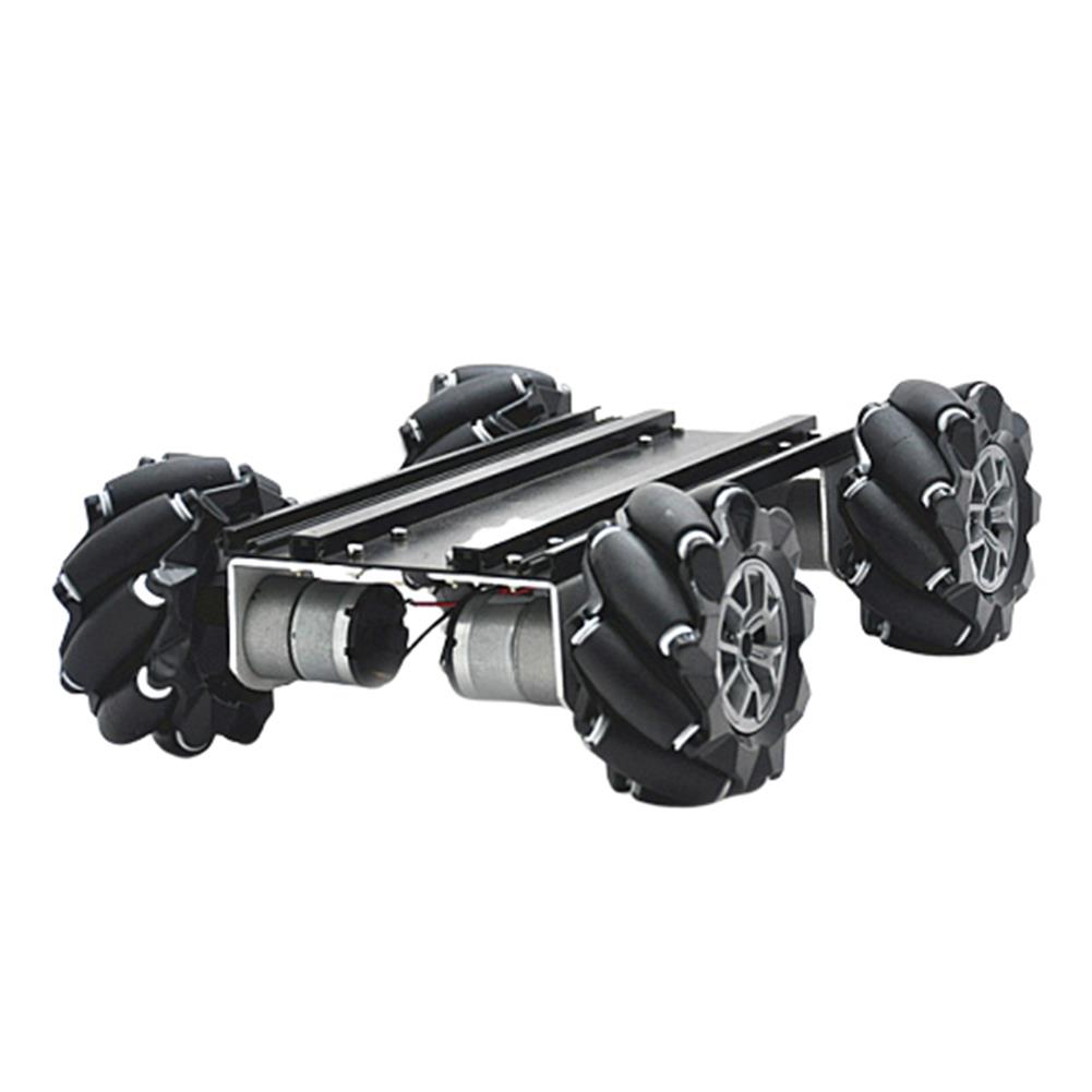 smart-robot-car D-45 DIY Smart Metal RC Robot Car Chassis Base with Omni Wheels Compabible with UNO HOB1635788