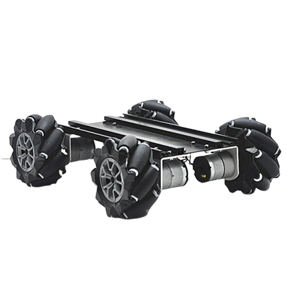 smart-robot-car D-45 DIY Smart Metal RC Robot Car Chassis Base with Omni Wheels Compabible with UNO HOB1635788 1