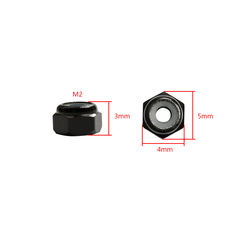 tools-bags-storage 10Pcs M3 Manual Knurled Thumb Aluminum Alloy Screw Nut Spacer Flat Washer HOB1635792 3