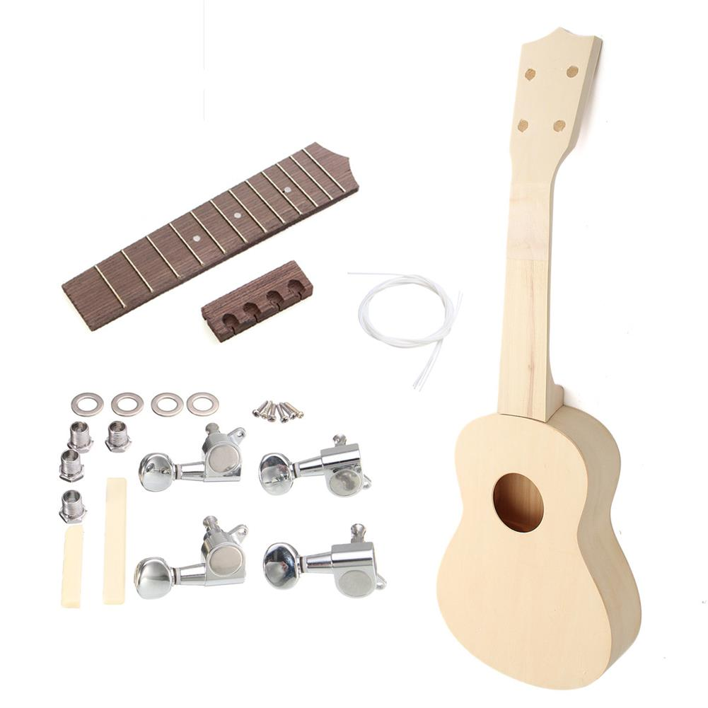 ukulele 21 inch Maple wood Hand-assembled Painting Ukulele with Accessories for Ukulele DIY HOB1635796