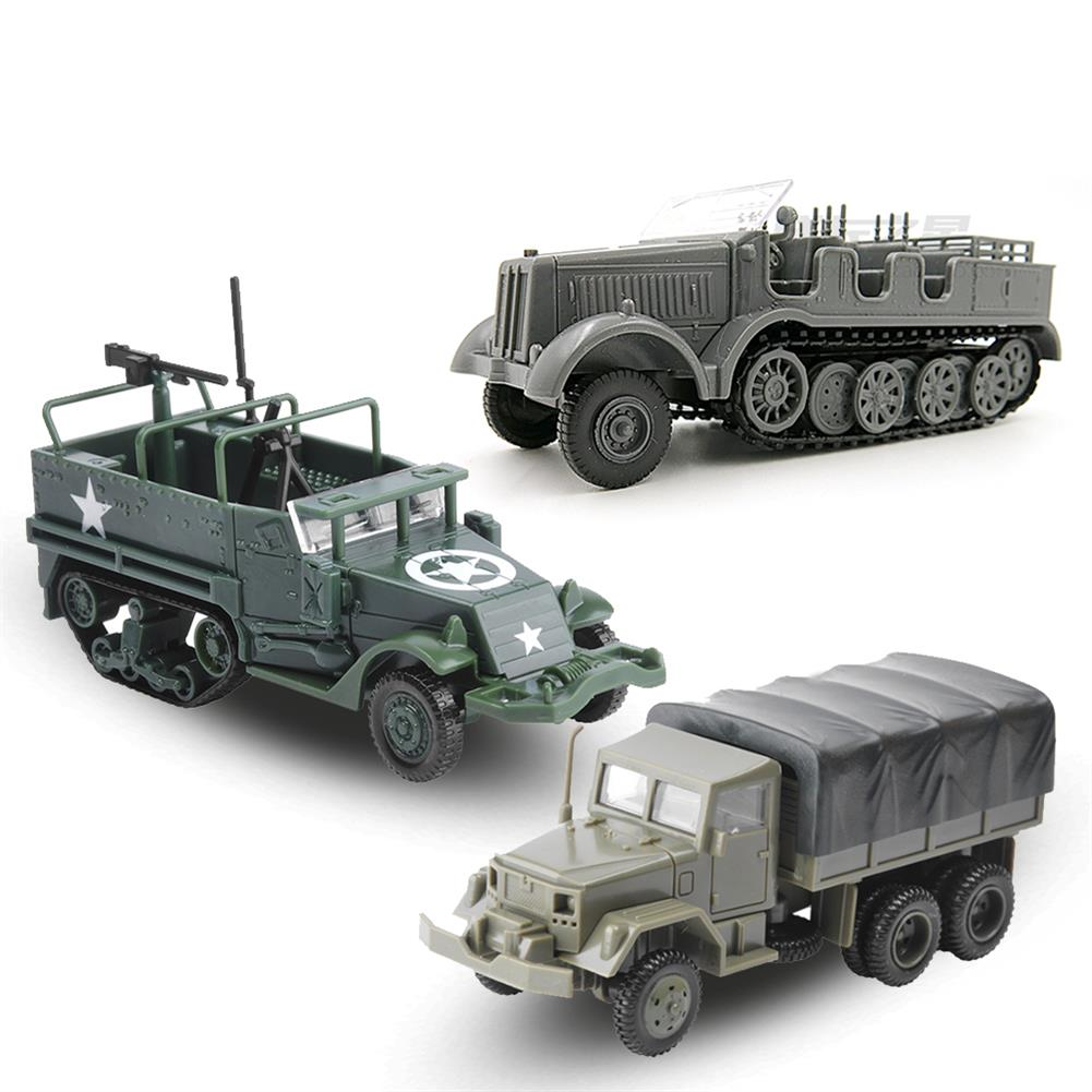 diecasts-model-toys 1/72 4D World War II Germany Armored Carrier Military Assembled Model Toys HOB1636268