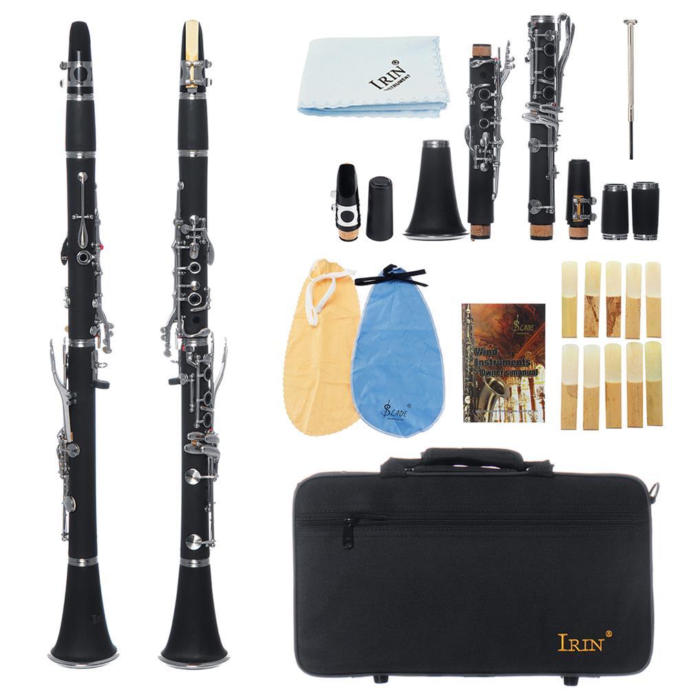clarinet IRIN 17 key Bb Adjustable Gum Wood Clarinet with Case/Bass StripReed/Screwdriver/Gloves HOB1636577