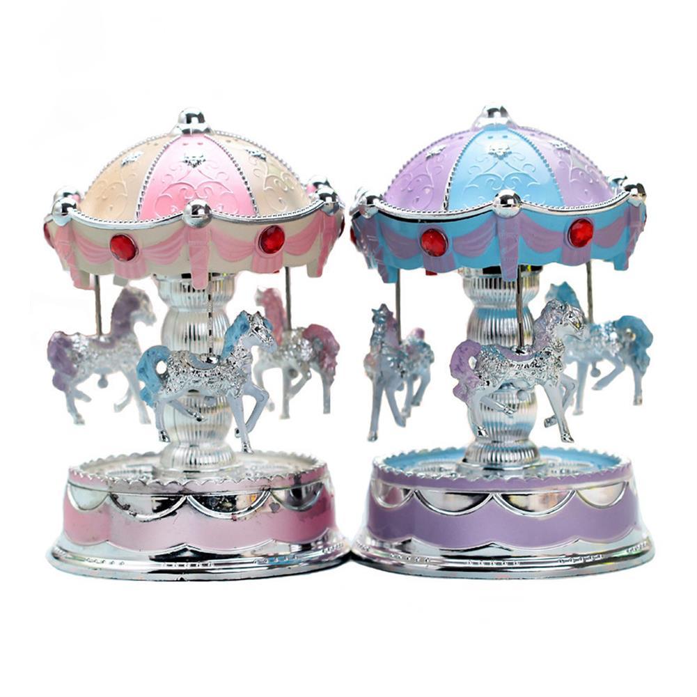 music-box Carousel LED Light Music Box Romantic Gift Clockwork Music Box HOB1636578
