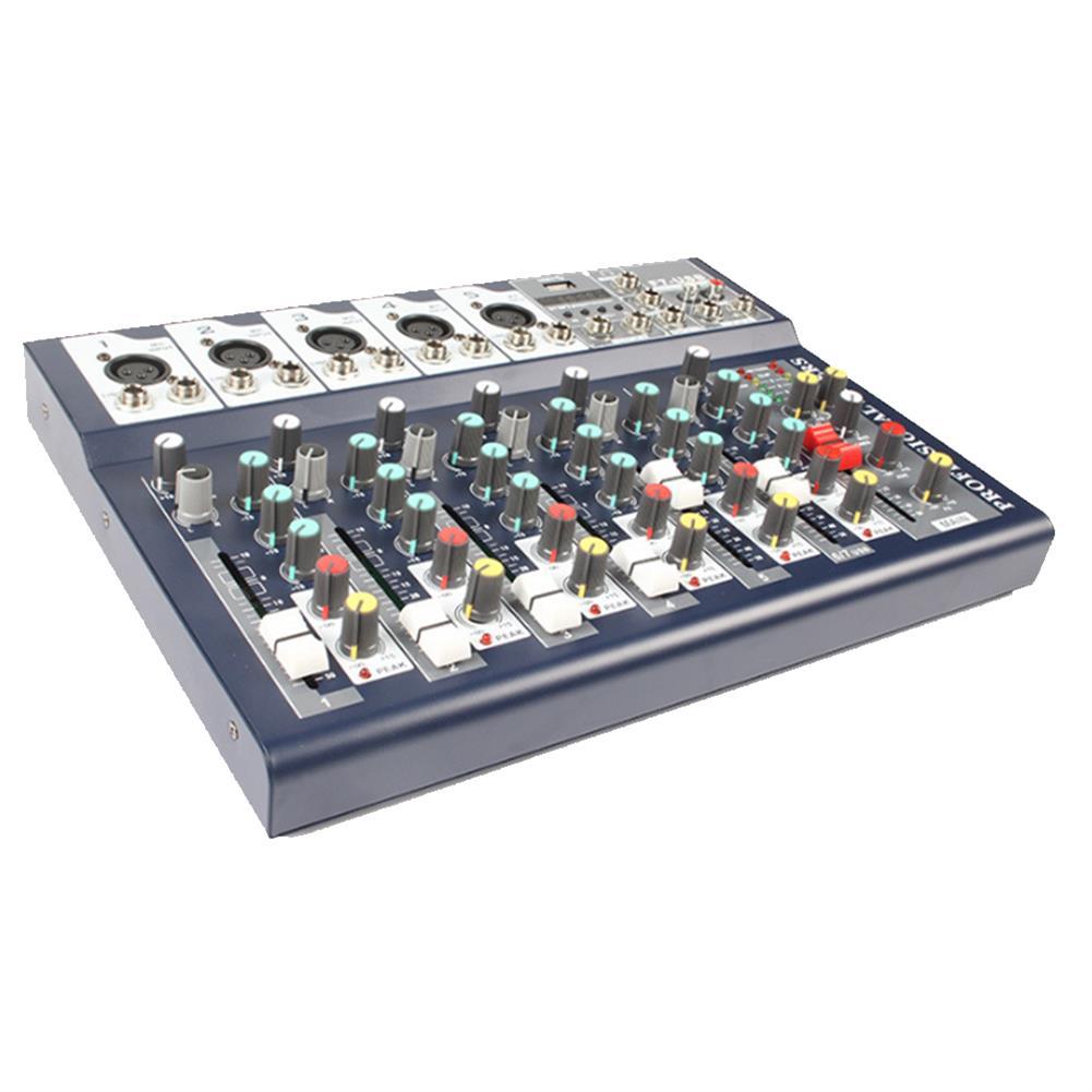 dj-mixers-equipment J.I.Y F7 25W 7 Channel 3-Band EQ AUX Output 48V Phantom Power Bluetooth Audio Mixer HOB1636582