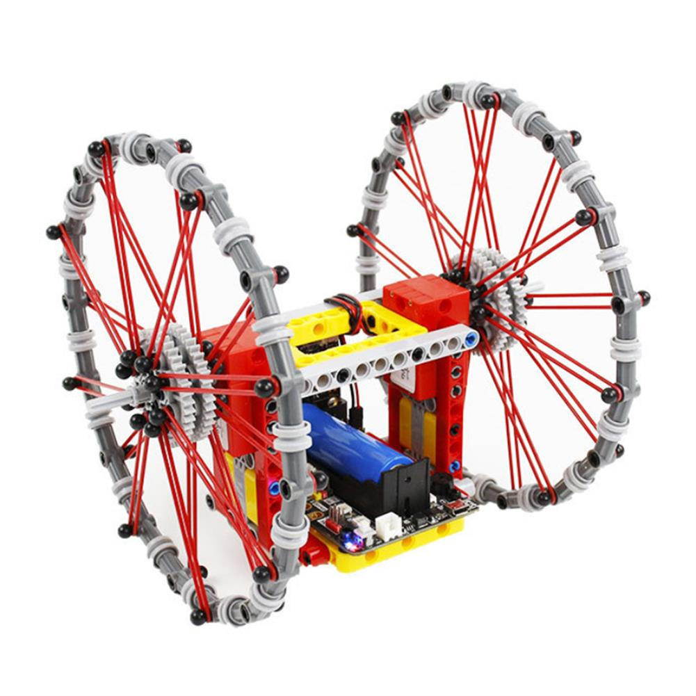 smart-robot Yahboom DIY STEAM Micro:bit Self-Balancing Block Building Smart RC Robot Car Programmable APP Control Educational Robot Kit HOB1636583