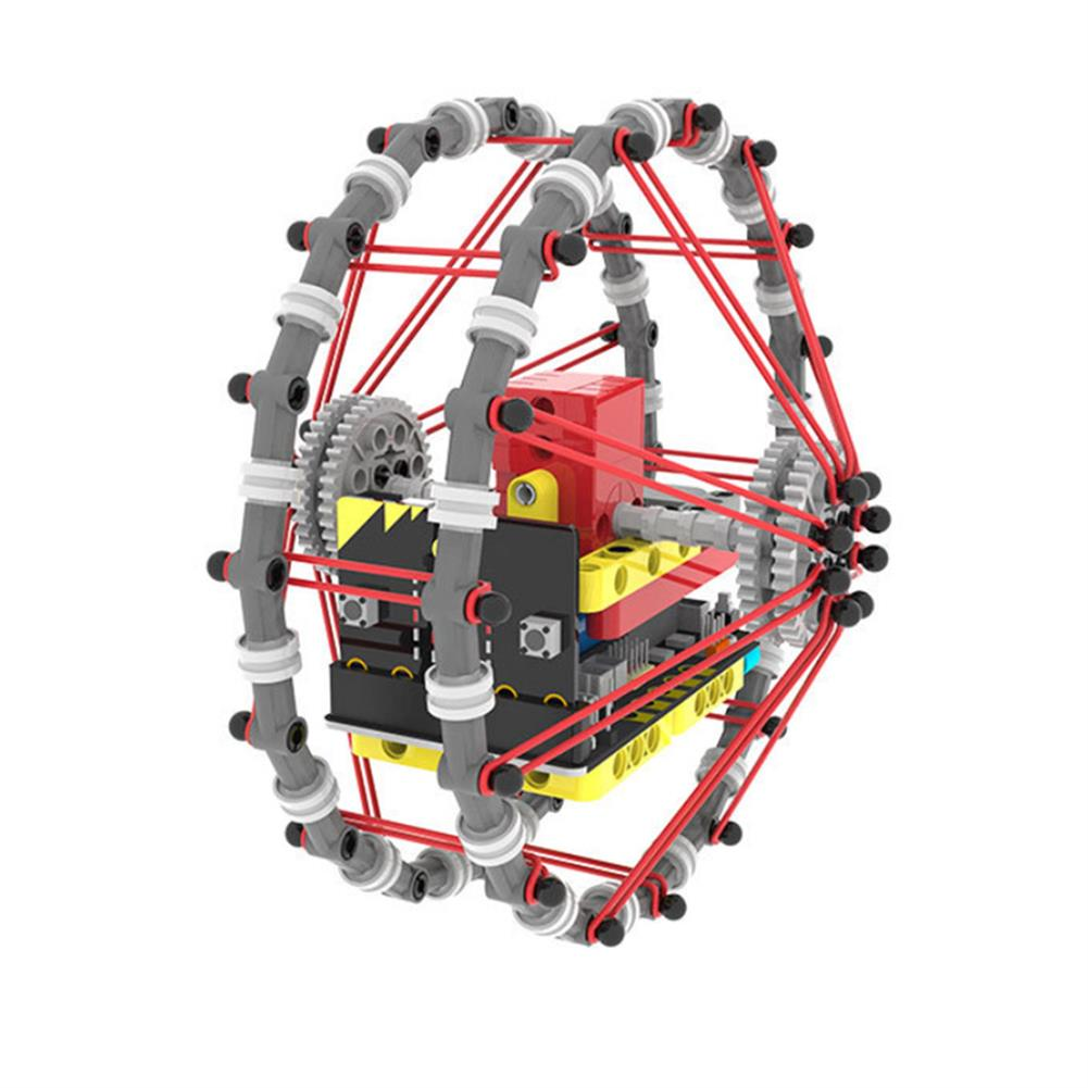 smart-robot Yahboom DIY STEAM Micro:bit Self-Balancing Block Building Smart RC Robot Car Programmable APP Control Educational Robot Kit HOB1636583 1