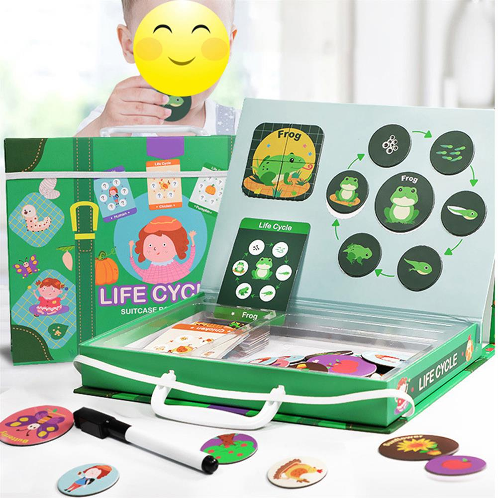 paper-art-drawing Magnetic Puzzle Leaning Life Cycle Animal Human Growth Educational Kids Toys for Kids Gift HOB1636847 1