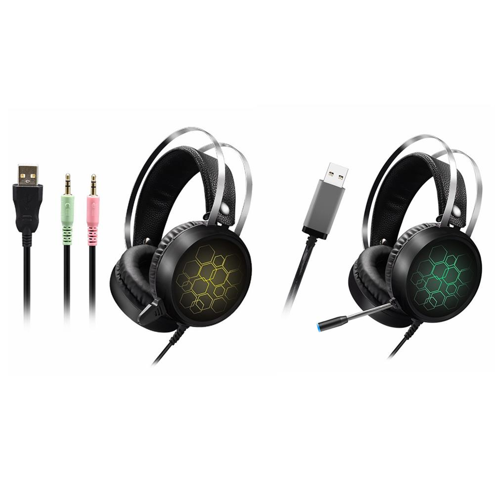 headphone 3.5mm USB/7.1 Channels Wired Gaming Headphone Heavy Bass Headset for Professional Computer Gamer HOB1638791 2