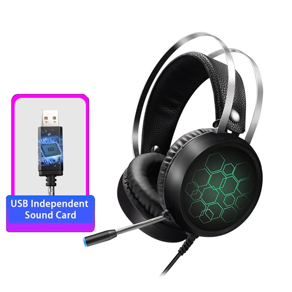 headphone 3.5mm USB/7.1 Channels Wired Gaming Headphone Heavy Bass Headset for Professional Computer Gamer HOB1638791 3