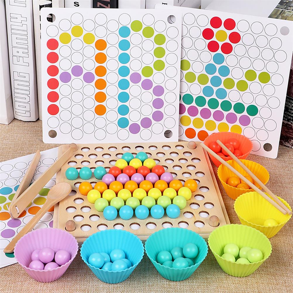 puzzle-game-toys Kids Early Learning Educational Montessori Color Sorting Wooden Toys Hands Brain HOB1646243