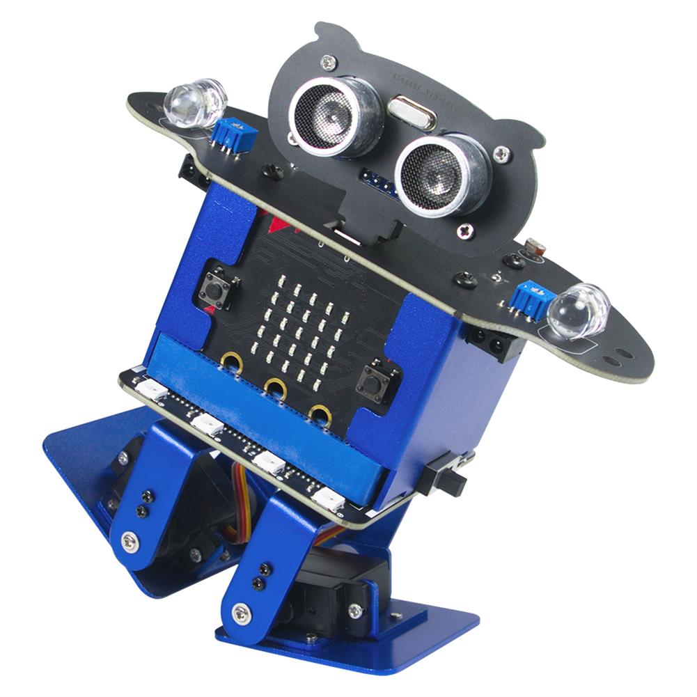 smart-robot Xiao R HappyBot Microbit Smart Programmable Obstacle Avoidance APP/Stick Control RC Dancing Robot HOB1647445