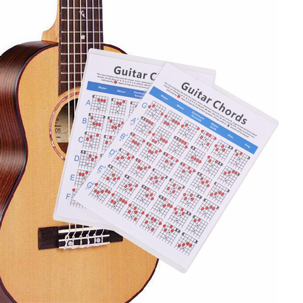 guitar-accessories Debbie 6-String Electric Bass String Spectrum Guitar Chord Chart for Fingering Practice HOB1647469 3