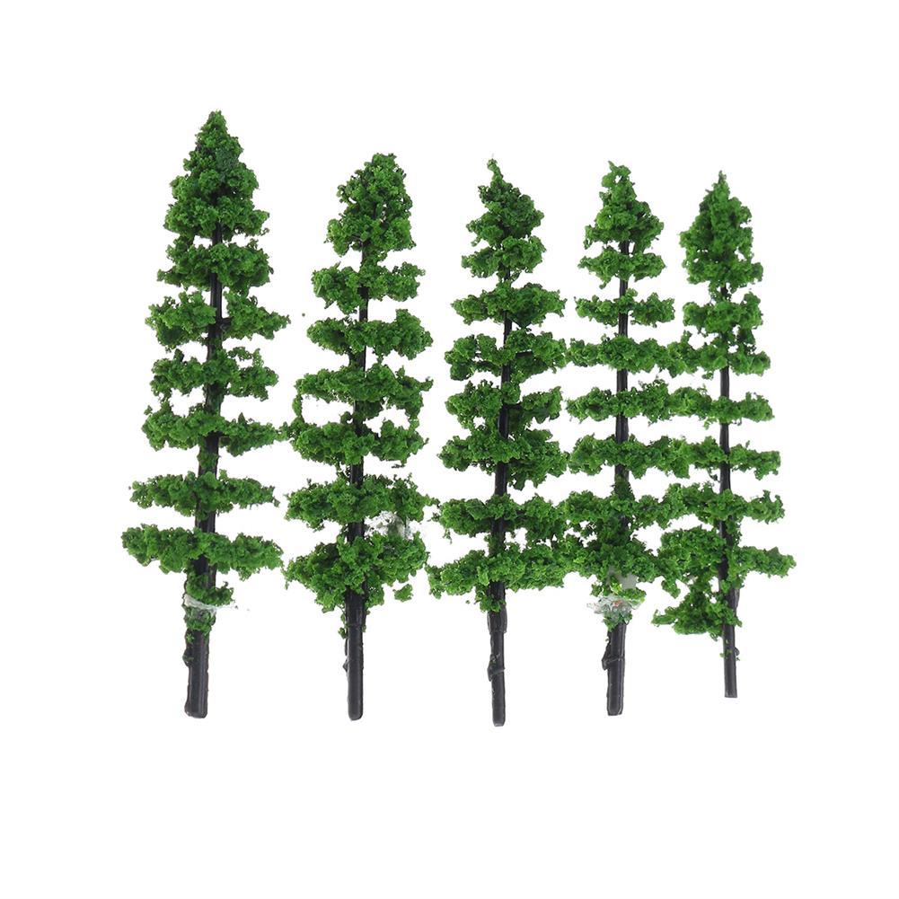 model-building 10Pcs Miniature Pine Trees Model Train Garden Park Wargame Scenery Layout Diorama Decorations HOB1647479