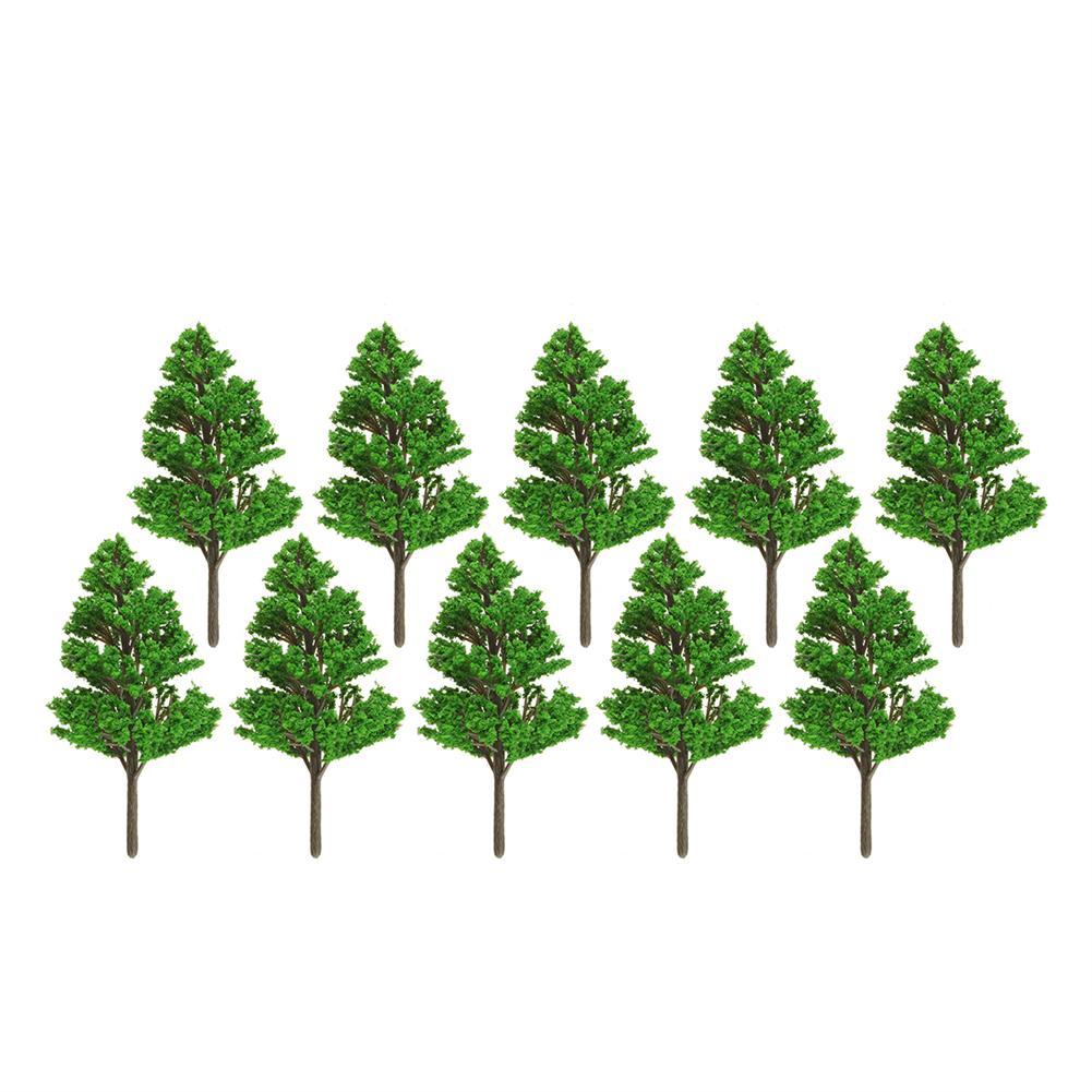 model-building 10Pcs Mini Artificial Plant Trees Poplar 3-14cm Home office Party Decorations HOB1648871