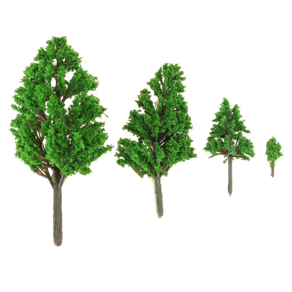 model-building 10Pcs Mini Artificial Plant Trees Poplar 3-14cm Home office Party Decorations HOB1648871 1
