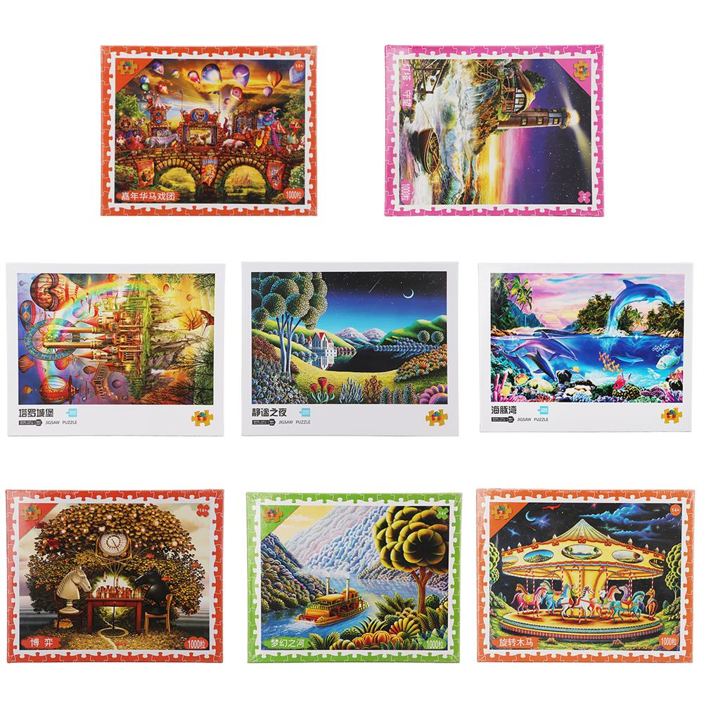 puzzle-game-toys 1000 Pieces Jigsaw Puzzle Toy for Adults Children Kids Games Educational Toys HOB1651996