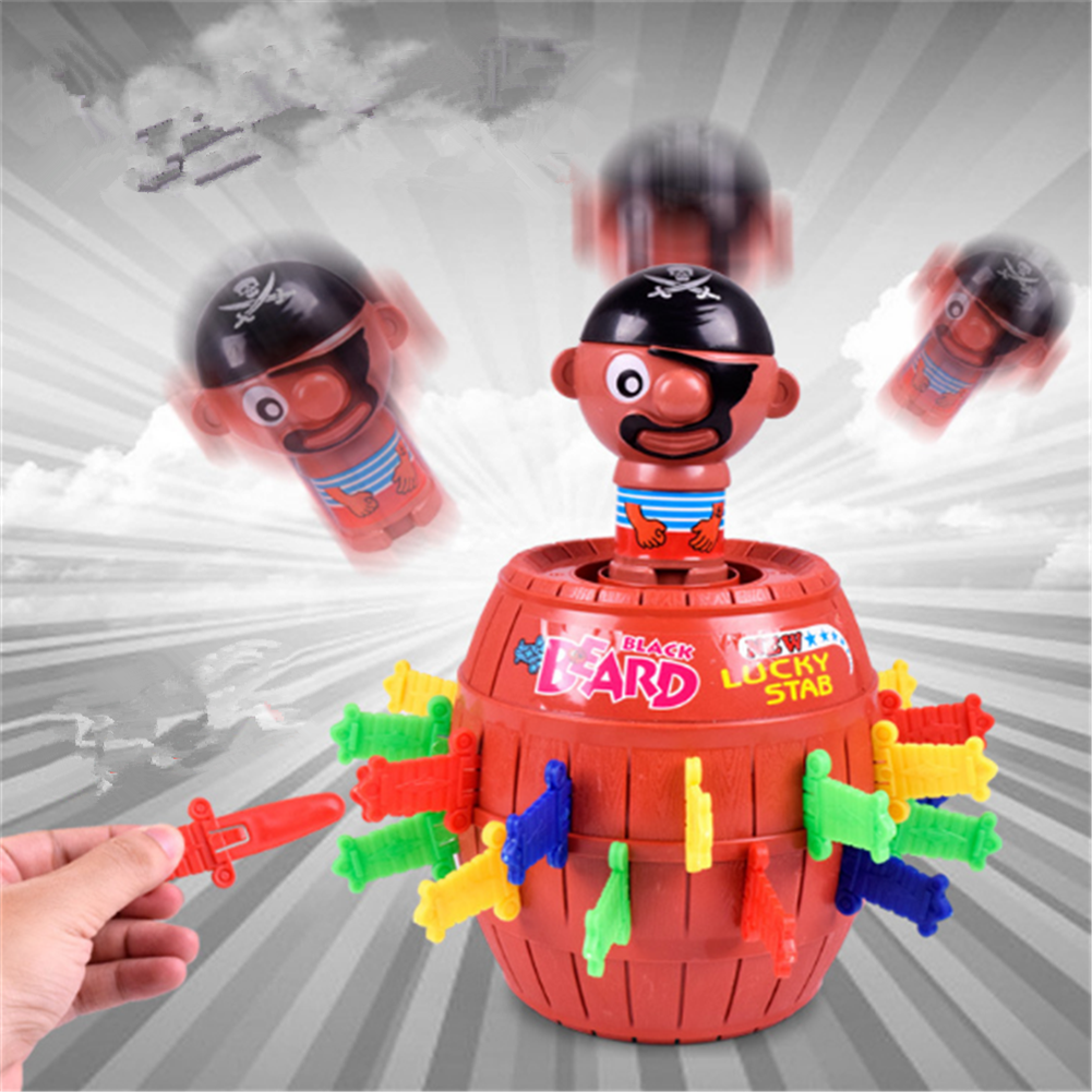 gags-practical-jokes 14cm Pirate Bucket Game Spoof Tricky Toys Pastime Toys HOB1652621