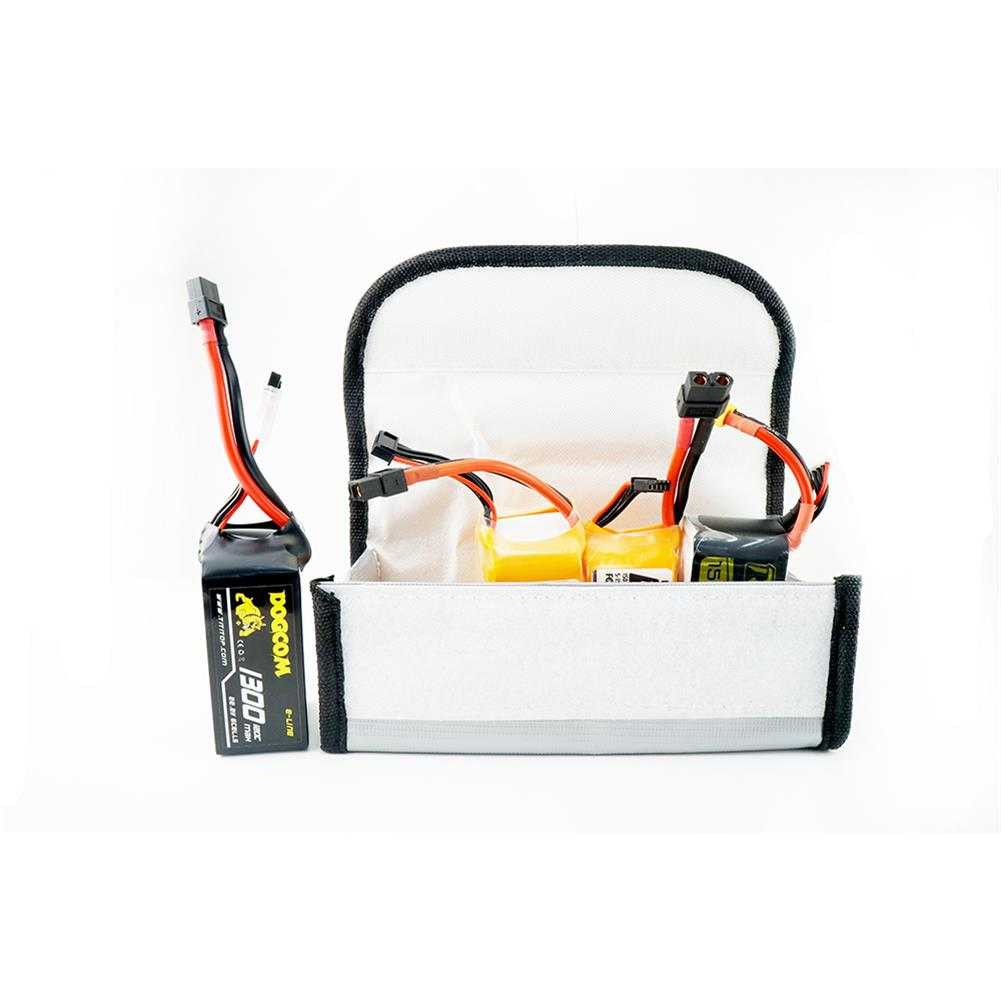 battery-charger HaMo Model Explosion-proof Fireproof Safe Storage Bag 85*75*65/230*300mm for RC LiPo Battery HOB1653152 3