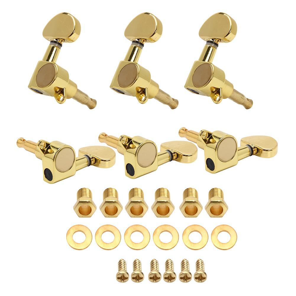 guitar-accessories 3R3L Semicircle Button Guitar Tuning Pegs Machine Heads Tuners Guitar Parts HOB1653158 1